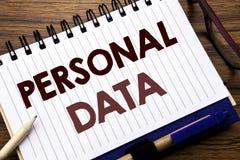 Вручите воодушевленность титра текста сочинительства показывая личные данные Концепция дела для предохранения от цифров написанно Стоковое Изображение RF