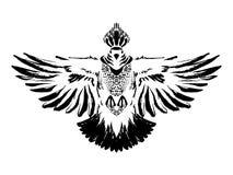 Вручите вычерченного черного стилизованного голубя покрашенного чернилами Птица голубя Тип Grunge также вектор иллюстрации притяж Стоковое Фото