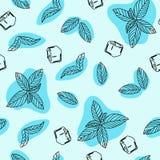 Вручите вычерченному вектору безшовную картину в стиле doodle Непрерывная линия чертеж иллюстрация вектора