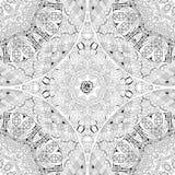 Вручите вычерченному zentangle безшовную картину для крася страницы Стоковые Фотографии RF
