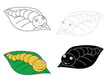 Вручите вычерченную иллюстрацию 4 гусениц на лист иллюстрация вектора