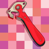 Нож для вскрытия консервных банок иллюстрация вектора