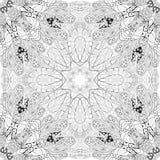 Вручите вычерченную картину seamleaa zentangle для крася страницы Стоковое Изображение