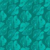 Вручите вычерченные иллюстрации вектора - безшовную картину seashell Морская предпосылка Стоковые Фотографии RF