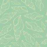 Вручите вычерченные иллюстрации вектора - безшовную картину seashell Стоковое фото RF