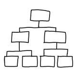 Вручите вычерченный символ пустых геометрических графиков форм для концепции Стоковое Изображение RF