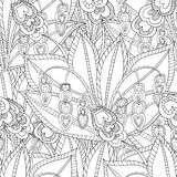 Вручите вычерченным художническим этническим рамку сделанную по образцу ornamental флористическую Стоковые Изображения