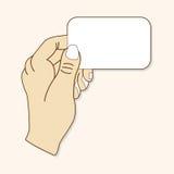 Вручите держать бумажный вектор элементов темы, eps иллюстрация штока