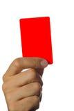 Красная карточка с путем клиппирования стоковая фотография rf