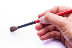 Вручите искусство инструмента комплекта кисти на белой предпосылке Стоковые Фотографии RF