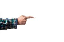 Вручите палец указывая вверх изолированный на белой предпосылке, в a Стоковое фото RF