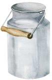 Вручите покрашенный шаблон clipart модель-макета акварели чонсервной банкы опарника Стоковое Фото
