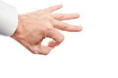 Вручите подготавливать щелчок при его указательный палец изолированный на белизне Стоковые Изображения