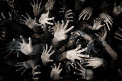 Вручите призрак, руки предпосылку зомби кровопролитные, маниака, зомби h крови Стоковое Фото