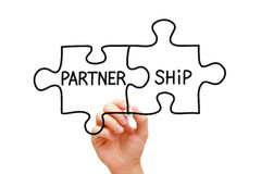 Принципиальная схема головоломки партнерства Стоковая Фотография RF