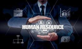 Вручите сеть нося значка бизнесмена - концепцию HR, HRM, MLM, сыгранности и руководства стоковые изображения