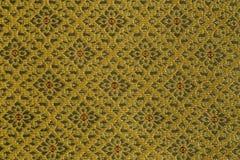 Вручите сплетенный традиционный тайский шелк, дизайн парчи Стоковая Фотография
