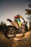 Всадник велосипеда Enduro Стоковая Фотография RF