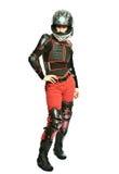 всадник мотоцикла девушки стоковое изображение rf