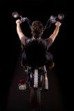 всадник мотоцикла тяпки Стоковое Изображение