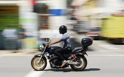Всадник мотоцикла Стоковые Изображения RF