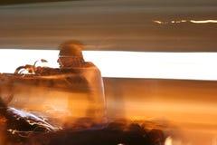 всадник мотоцикла Стоковое Фото