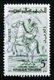 Всадник на лошади, жизнь в serie Туниса, около 1959 Стоковая Фотография