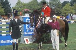 Всадник на horseback Стоковая Фотография