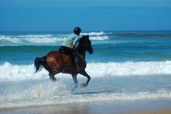всадник пляжа Стоковое Изображение