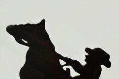 всадник утюга лошади предпосылки Стоковое Изображение