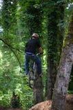 всадник bike скача Стоковые Фото