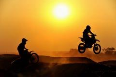 всадник motocross Стоковая Фотография RF