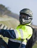 всадник motocross Стоковые Фотографии RF