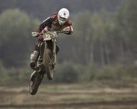 всадник motorcross Стоковое Изображение RF