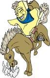всадник texas мустанга Иллюстрация вектора