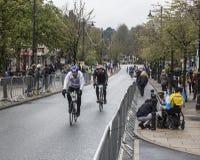 Всадники в Sportive цикле de Йоркшира путешествия участвуют в гонке Стоковые Фотографии RF