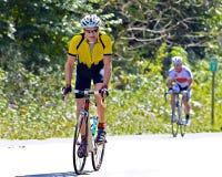 Всадник велосипеда во время задействуя события Стоковая Фотография RF