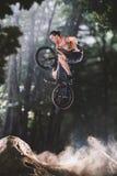 Всадник велосипеда Bmx на самых интересных Стоковая Фотография RF