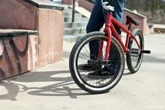 Всадник велосипеда BMX Стоковые Фотографии RF