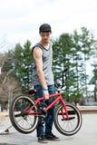 Всадник велосипеда BMX Стоковые Фото