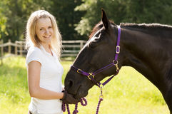 Всадник лошади и лошадь Стоковая Фотография RF