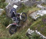 Всадник мотоцикла проб стоковые фотографии rf