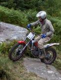 Всадник мотоцикла проб стоковое фото rf