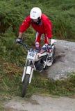 Всадник мотоцикла проб стоковое изображение