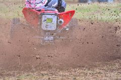 Всадник на мотоцилк квада Стоковые Фотографии RF
