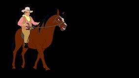 Всадник на лошади видеоматериал