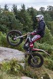 Всадник проб мотоцикла стоковые изображения rf