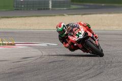 Всадник Davide Giugliano Superbike стоковая фотография rf