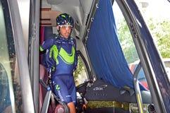 Всадник Movistar команды стоковые изображения