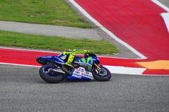 Всадник Valentino Rossi Остин Техас 2015 Yamaha MotoGP стоковое фото